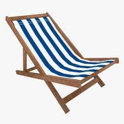 低聚沙滩椅 3d model