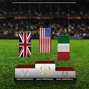 Спорт подиум нормальный флаг 3d model