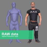 Fotorealistisk kroppsbyggare 3d model