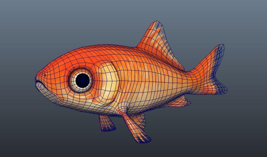 Akvaryum balığı royalty-free 3d model - Preview no. 2