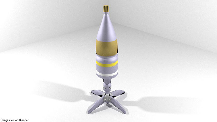 Rocket Launcher - Projectile - HEAT royalty-free 3d model - Preview no. 1