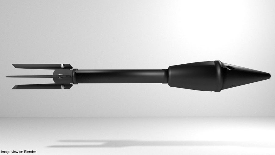 Rocket Launcher - Projectile - M7A1 royalty-free 3d model - Preview no. 2