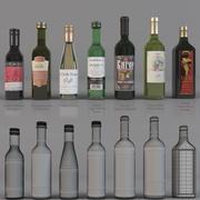 Şarap şişesi 3d model