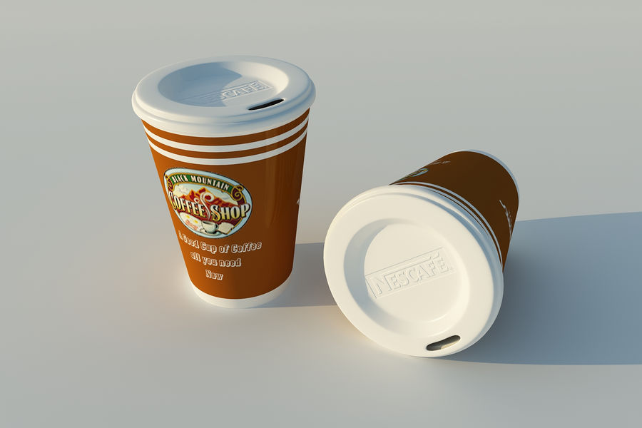 Cup Coffe royalty-free 3d model - Preview no. 5