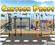 Cartoon Street Rekwizyty 3d model