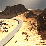 Vue Terrain with Road 3d model