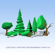Lowpoly Nature Pack 01 3d model