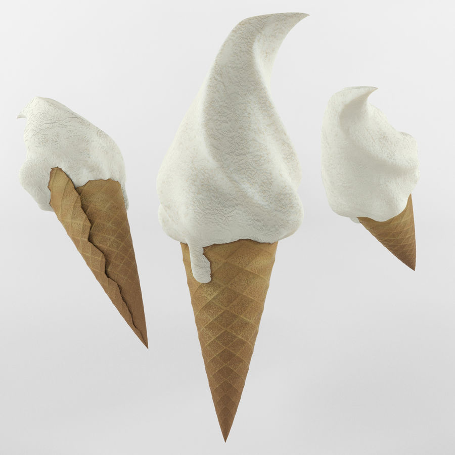 Ice cream set royalty-free 3d model - Preview no. 3