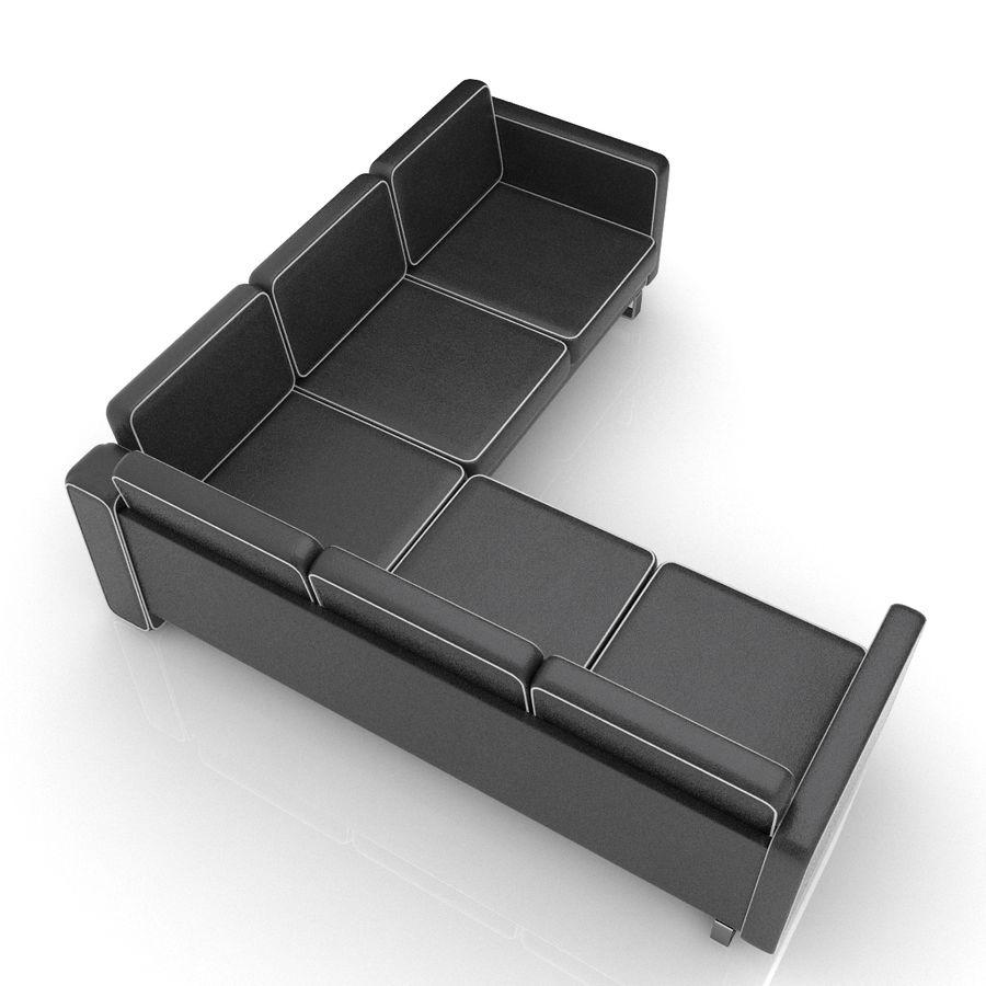 Soffa 02 5 royalty-free 3d model - Preview no. 4