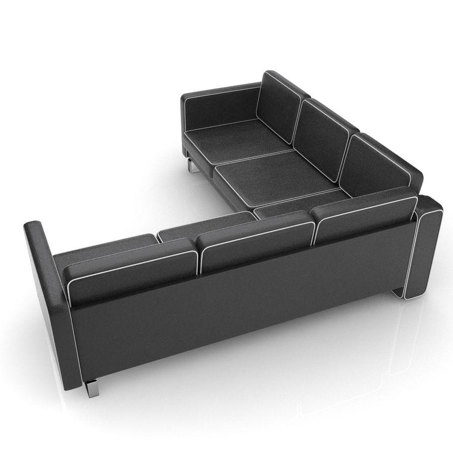 Soffa 02 5 royalty-free 3d model - Preview no. 3
