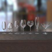 Zestaw kieliszków do wina 3d model