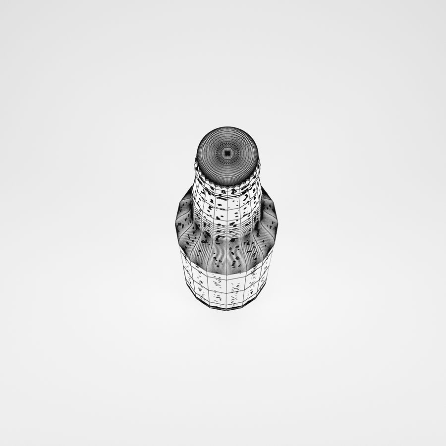 ビール瓶 royalty-free 3d model - Preview no. 6