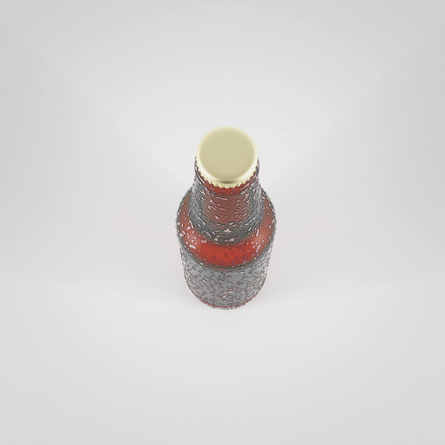 ビール瓶 royalty-free 3d model - Preview no. 3