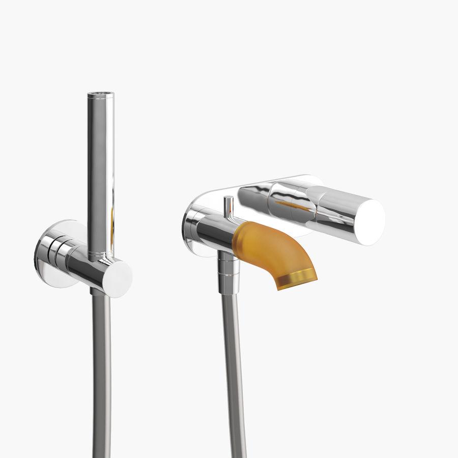 Zazzeri Faucet Set - Torneira para duche royalty-free 3d model - Preview no. 13
