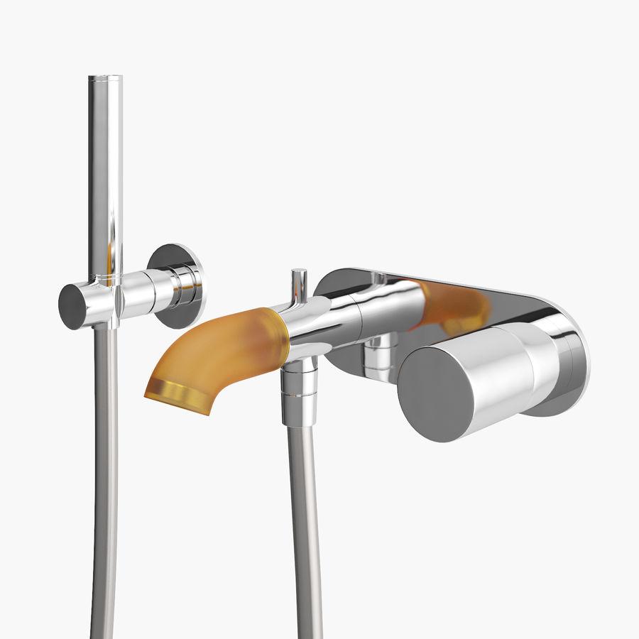 Zazzeri Faucet Set - Torneira para duche royalty-free 3d model - Preview no. 15