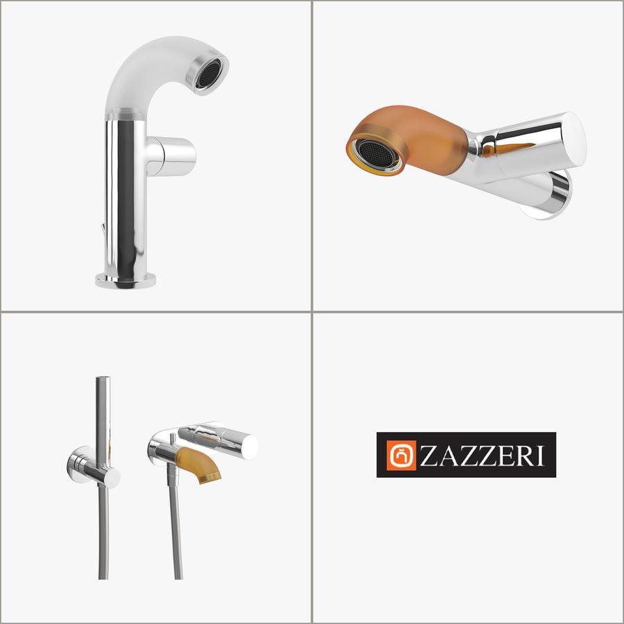 Zazzeri Faucet Set - Torneira para duche royalty-free 3d model - Preview no. 2