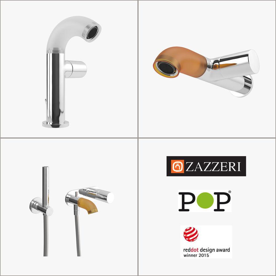 Zazzeri Faucet Set - Torneira para duche royalty-free 3d model - Preview no. 1