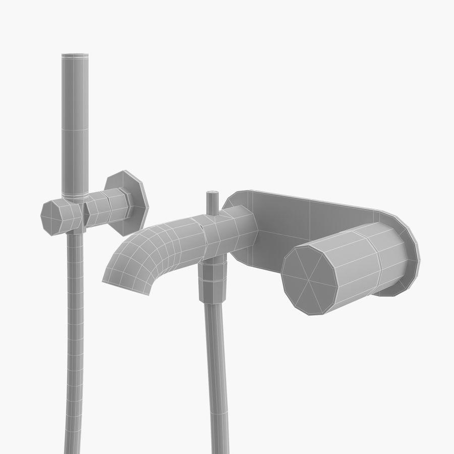 Zazzeri Faucet Set - Torneira para duche royalty-free 3d model - Preview no. 16