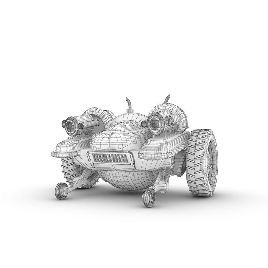 Personagem de robô engraçado 5 royalty-free 3d model - Preview no. 5