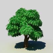 Albero di cartone animato 3d model