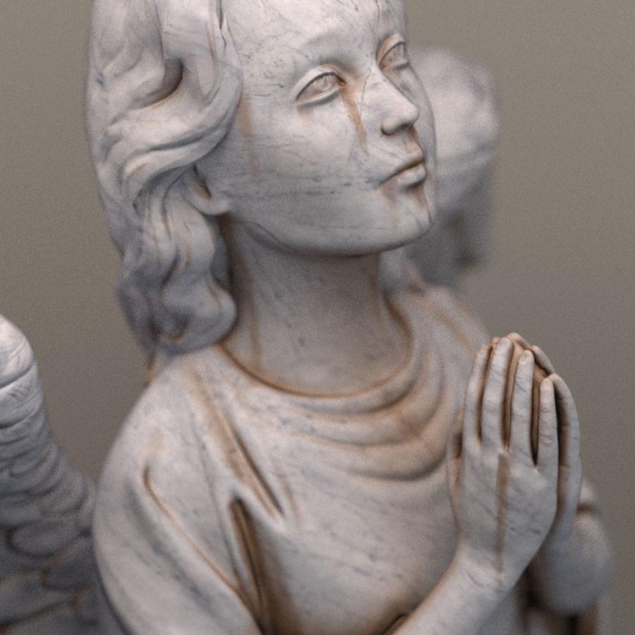 Скульптура статуи ангела royalty-free 3d model - Preview no. 5