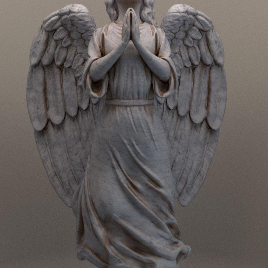 Скульптура статуи ангела royalty-free 3d model - Preview no. 4