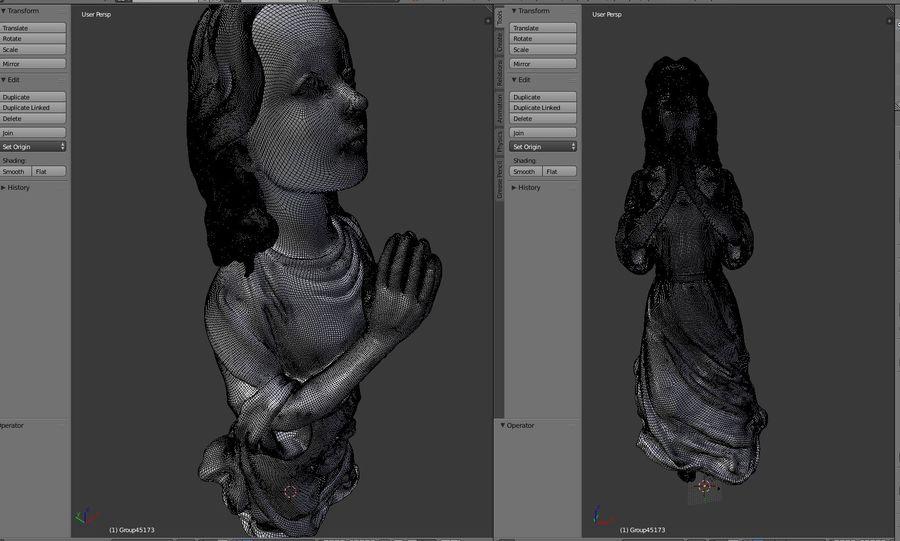 Скульптура статуи ангела royalty-free 3d model - Preview no. 3
