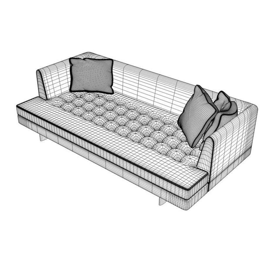 Edward Bensen Sofa royalty-free 3d model - Preview no. 6