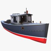 Cruiser Boat 3d model