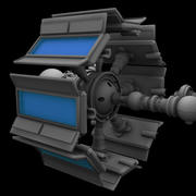 Futuristic Screen 3d model
