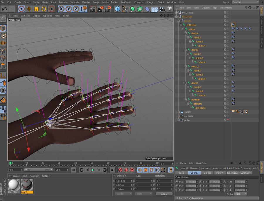 Mains entièrement gréées royalty-free 3d model - Preview no. 2