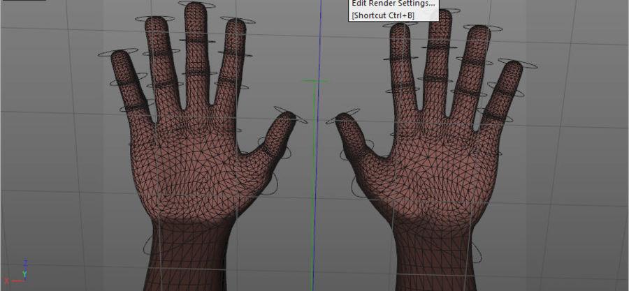 Mains entièrement gréées royalty-free 3d model - Preview no. 5