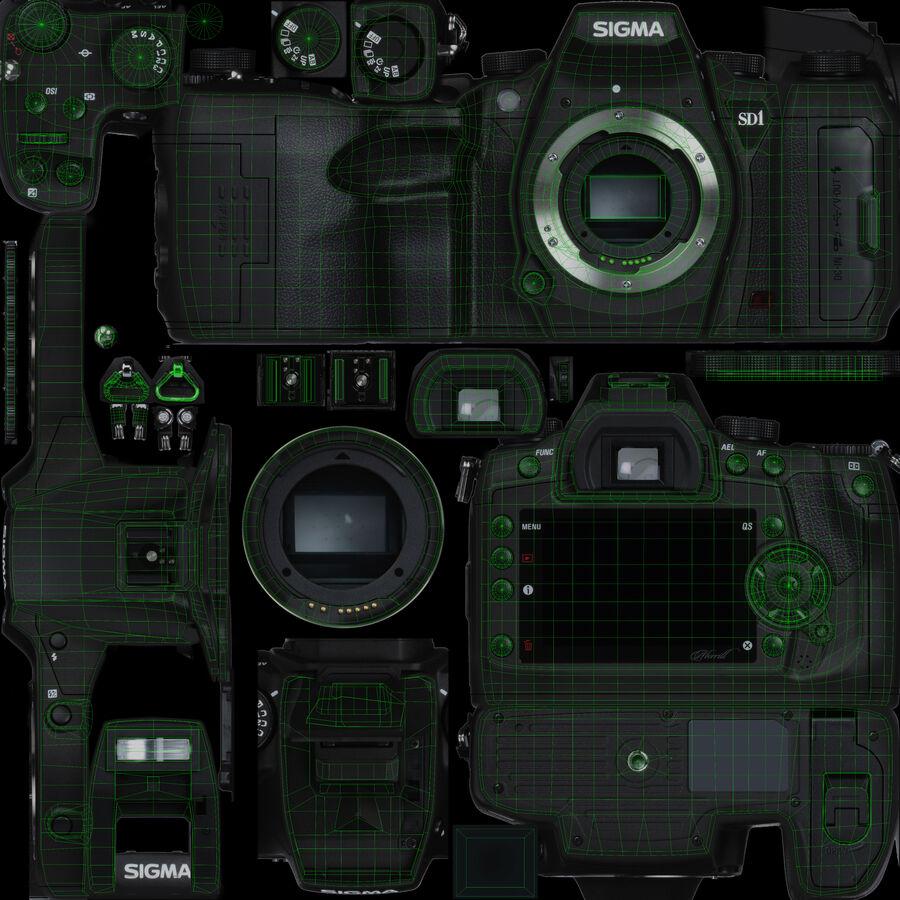 Sigma SD1 Merrill DSLR-kamera royalty-free 3d model - Preview no. 5