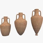 Amphoras Pack 1 Low Poly 3d model
