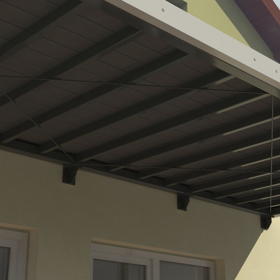 Balcony royalty-free 3d model - Preview no. 5