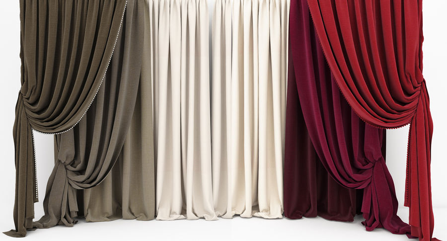 Curtain collection 06 royalty-free 3d model - Preview no. 9