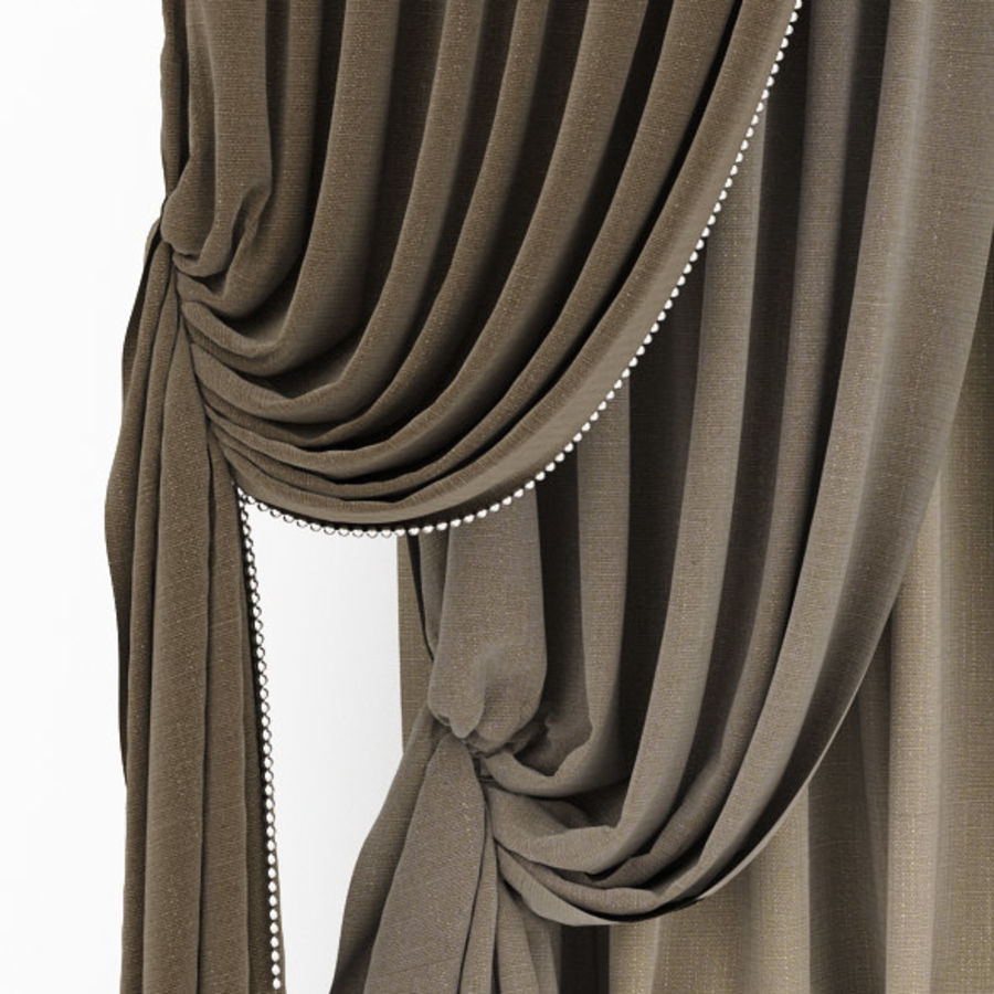 Curtain collection 06 royalty-free 3d model - Preview no. 11