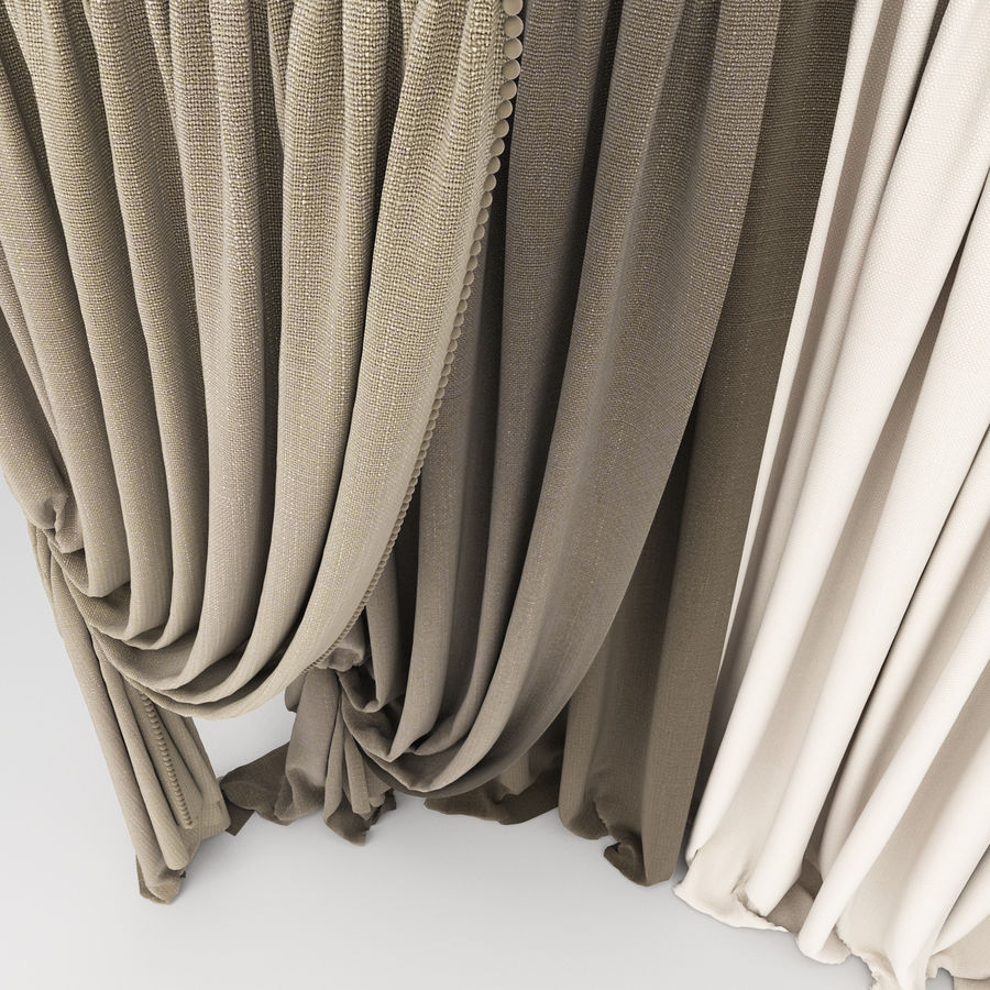 Curtain collection 06 royalty-free 3d model - Preview no. 10
