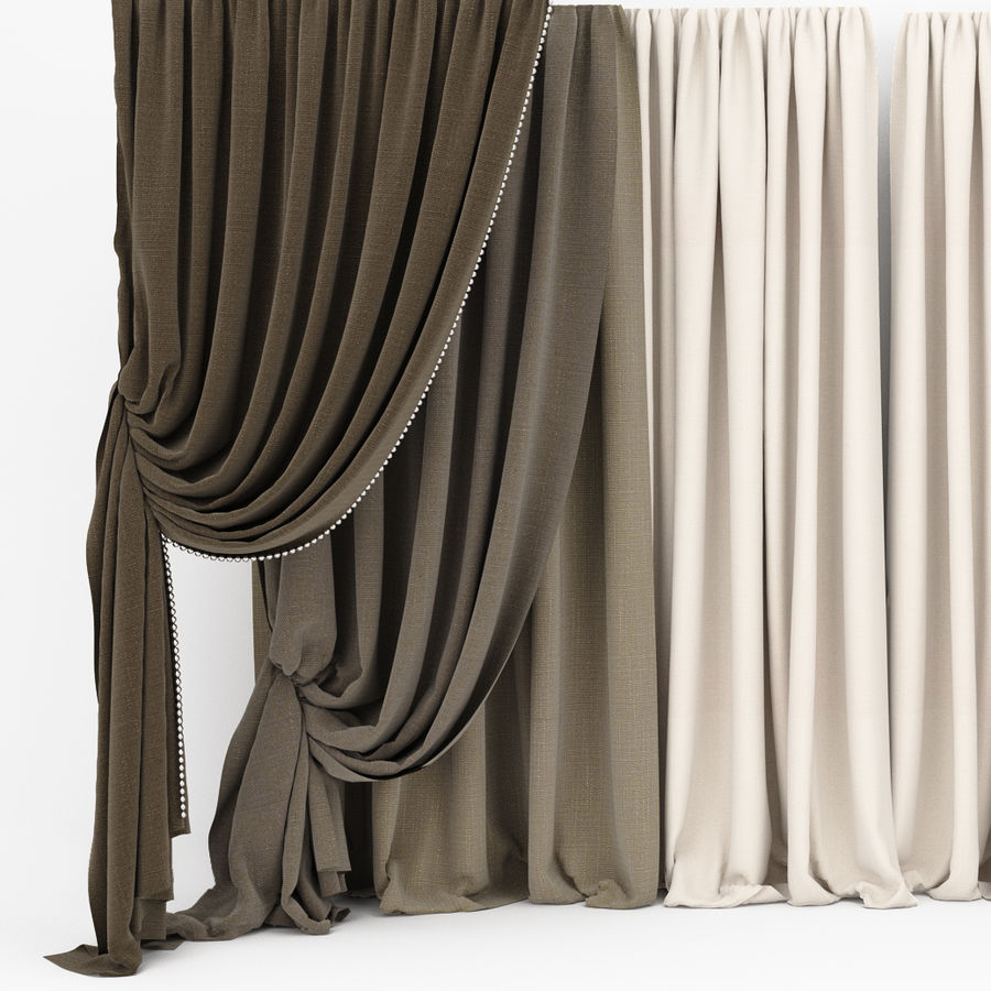 Curtain collection 06 royalty-free 3d model - Preview no. 1