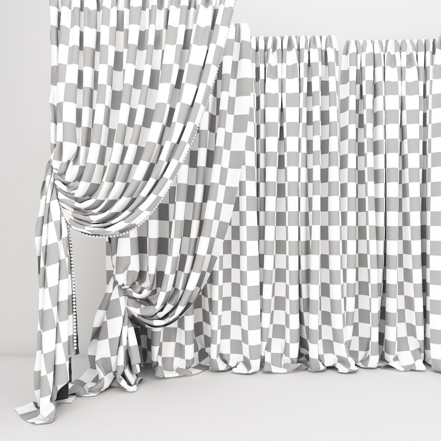 Curtain collection 06 royalty-free 3d model - Preview no. 13