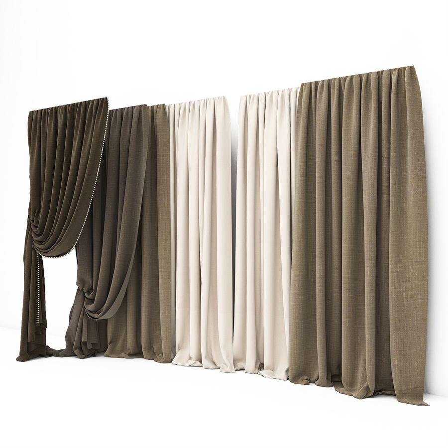 Curtain collection 06 royalty-free 3d model - Preview no. 6