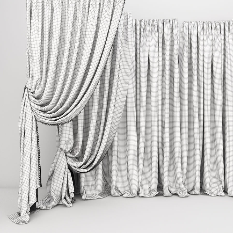 Curtain collection 06 royalty-free 3d model - Preview no. 12