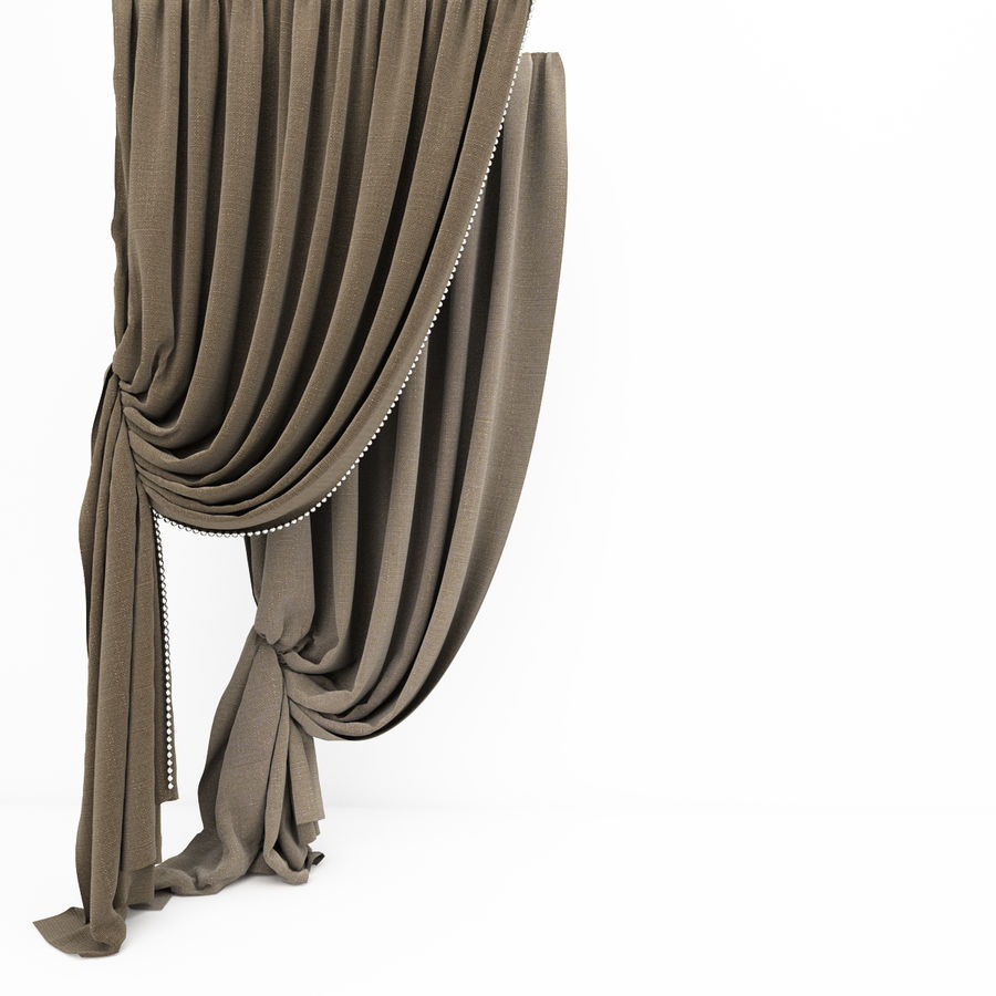 Curtain collection 06 royalty-free 3d model - Preview no. 8