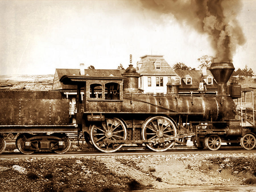 American Steam Locomotive Engine royalty-free 3d model - Preview no. 11