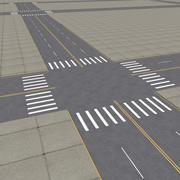 Rues de la ville 3d model