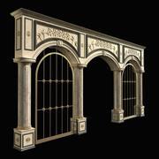 Colonnade with latticework 3d model
