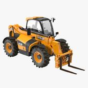 Telescopic Handler Forklift JCB 535 95 Orange 3d model