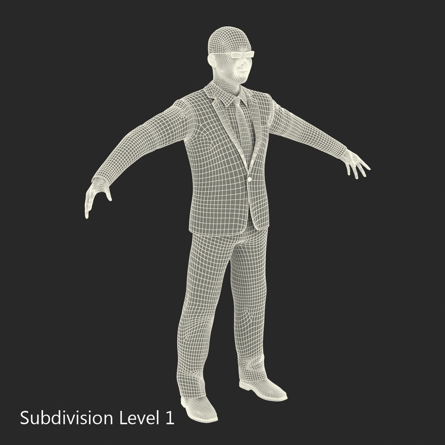 Asian Businessman 3D Model royalty-free 3d model - Preview no. 27