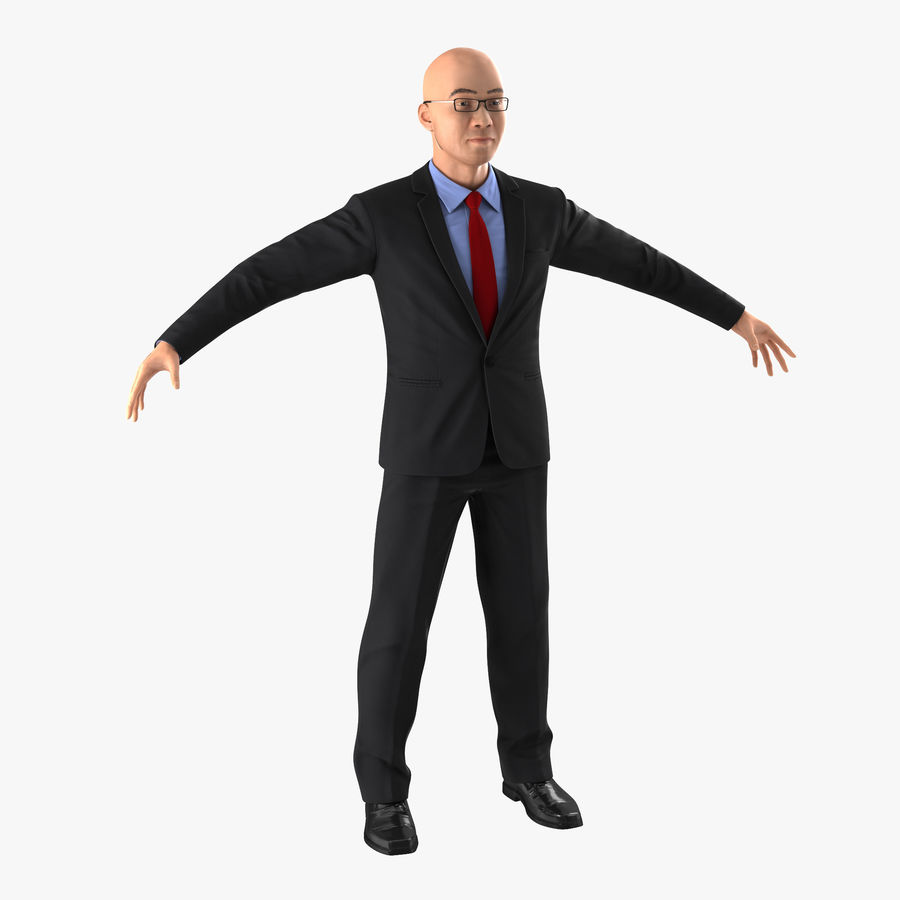 Asian Businessman 3D Model royalty-free 3d model - Preview no. 1