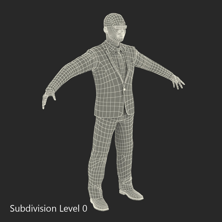 Asian Businessman 3D Model royalty-free 3d model - Preview no. 26